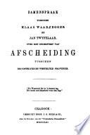Zamenspraak Tusschen Klaas Waarzegger En Jan Twyfelaar