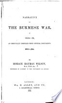 Narrative of the Burmese War, in 1824-25