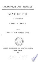 Shakespere for schools  with notes for school use  6 pt   As you like  Julius Caesar  King Henry v  King John  Macbeth  Merchant of Venice Book