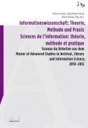 Informationswissenschaft: Theorie, Methode und Praxis / Sciences de l'information: théorie, méthode et pratique [Pdf/ePub] eBook