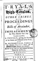Pdf TRYALS FOR High-Treason AND OTHER CRIMES