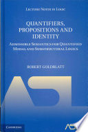 Quantifiers  Propositions and Identity