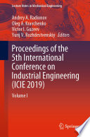 Proceedings of the 5th International Conference on Industrial Engineering  ICIE 2019  Book