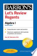 Let s Review Regents  Algebra I Revised Edition