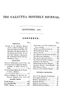 Calcutta Monthly Journal and General Register ...