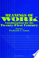 Meanings of Work