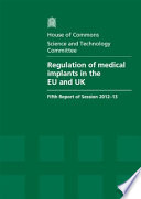 Regulation of Medical Implants in the EU and UK Book