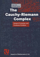 The Cauchy-Riemann Complex