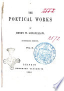 The Poetical Works of Henry W  Longfellow Book PDF