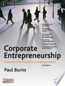 Corporate entrepreneurship innovation and strategy in large organizations