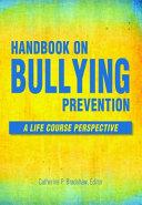 Handbook On Bullying Prevention PDF