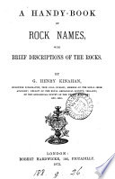 A Handy Book Of Rock Names Book