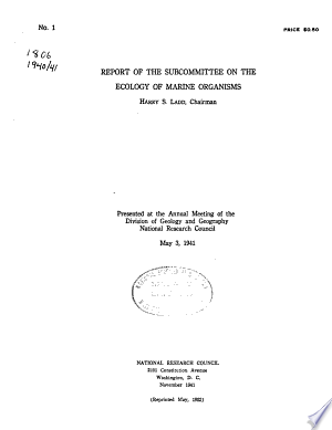 Download Report of the Subcommittee on the Ecology of Marine Organisms PDF