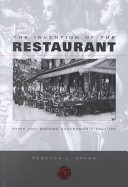The Invention of the Restaurant Book PDF