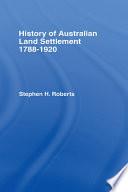 History of Australian Land Settlement