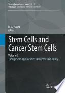 Stem Cells and Cancer Stem Cells  Volume 7 Book