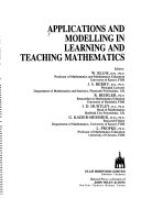 Applications and Modelling in Learning and Teaching Mathematics