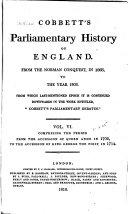 Cobbett s Parliamentary History of England