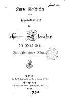 Kurze Geschichte und Charakteristik der schönen Literatur der Deutschen