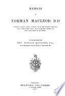 Memoir of Norman Macleod, D.D.