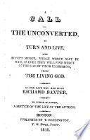 A Call to the Unconverted, to Turn and Live