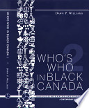 Who S Who In Black Canada 2 Book PDF