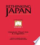 Rethinking Japan Vol 1  Book PDF