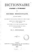 Dictionnaire analogique & étymologique des idiomes méridionaux