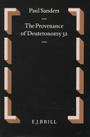 Provenance of Deuteronomy Thirty-two