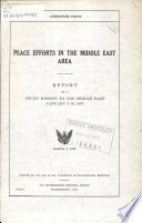 Peace Efforts in the Middle East Area