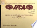 Instituto Interamaericano de Cooperacion Para la Agricultura Informe de Gestion Del Director General Anexos