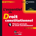 L'essentiel du droit constitutionnel 2014-2015