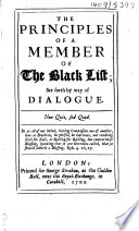 The Principles of a Member of the Black List