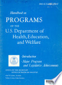 Handbook on Programs of the U.S. Department of Health, Education, and Welfare