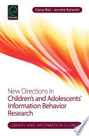New Directions In Children S And Adolescents Information Behavior Research Book PDF