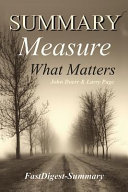 Summary: ''Measure What Matters by John Doerr and Larry Page''