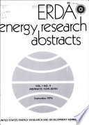 ERDA Energy Research Abstracts Book