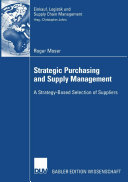 Pdf Strategic Purchasing and Supply Management Telecharger