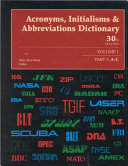 Acronyms  Initialisms   Abbreviations Dictionary Book