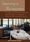 Opening a Restaurant Or Other Food Business Starter Kit [Pdf/ePub] eBook