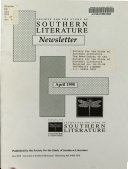 The News Letter Of The Society For The Study Of Southern Literature