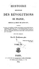 Histoire impartiale des révolutions de France depuis la mort de Louis XV
