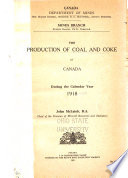 The Production of Coal and Coke in Canada During the Calendar Year