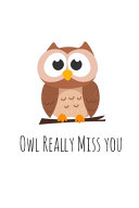 Owl Really Miss You