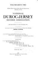 Duroc Jersey Swine Record Association Book