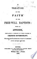 A Treatise on the Faith of the Free-will Baptists