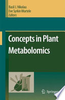 Concepts In Plant Metabolomics Book PDF