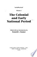 Black Communities and Urban Development in America, 1720-1990: The Colonial and early national period