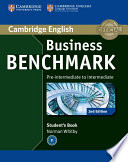 Business Benchmark Pre-intermediate to Intermediate BULATS Student's Book