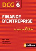 DCG - épreuve 6 - Fiches - Finance d'entreprise